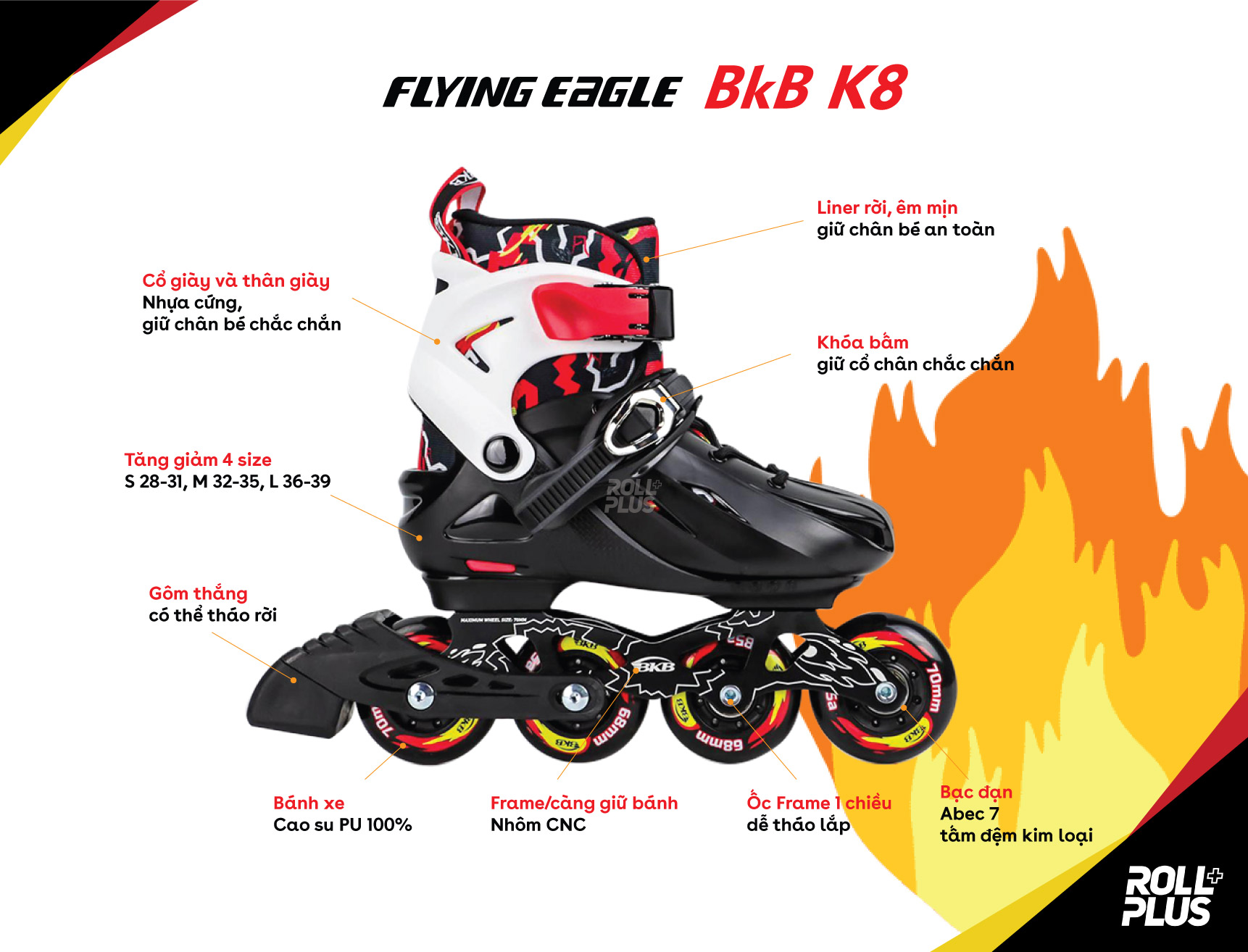 giay-patin-tre-em-flying-eagle-bkb-k8-den-do