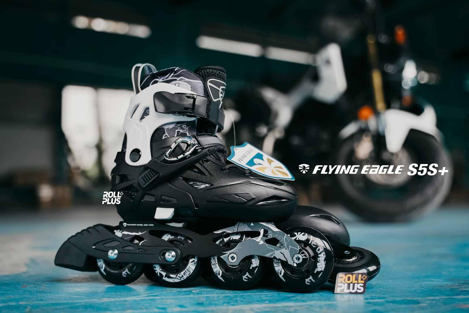 giày patin trẻ em flying eagle S5S+ màu đen mạnh mẽ